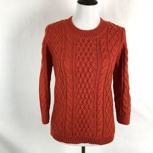 Talbots Chunky Knit Cable Knit Sweater